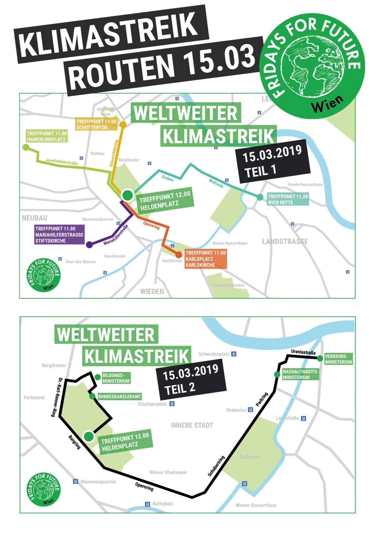 Route Klimastreik Wien